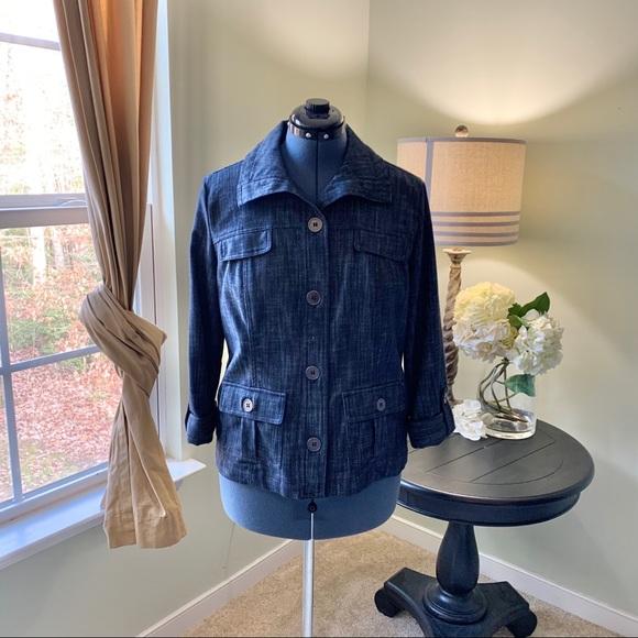 JM Collection Jackets & Blazers - JM Collection Button Up Jean Jacket NWOT Size 14